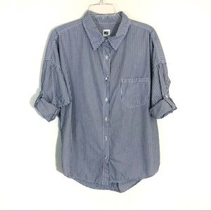 NSF striped button down shirt oversized pinstriped